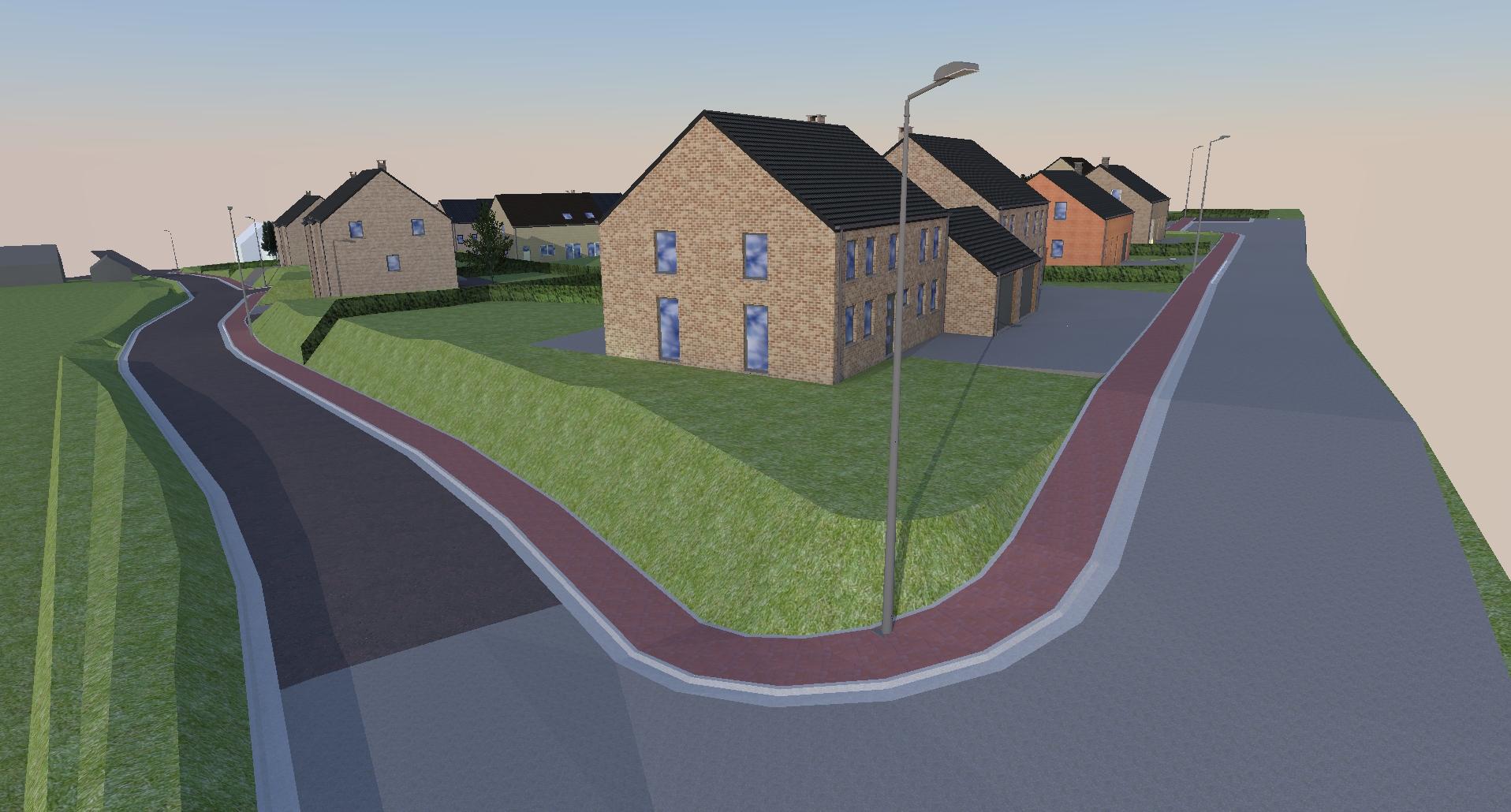Modélisation 3D d'un projet d'urbanisation à Oupeye