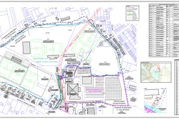 Plan de mesurage et de division pour les sites du Country Hall et du Standard à Liège