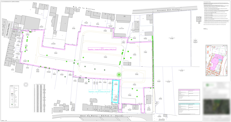 Plan de mesurage d'une parcelle sise à Hamoir